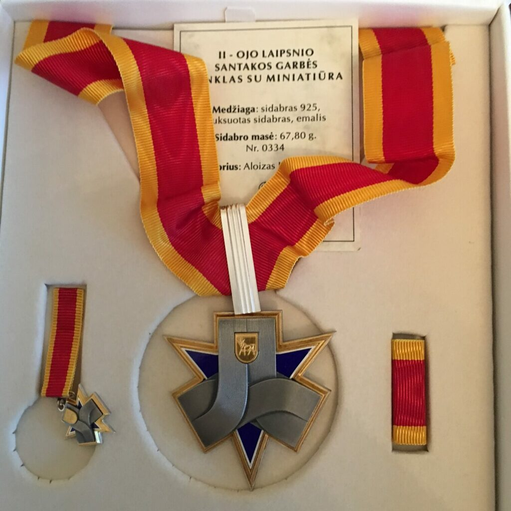 Lithuanian Medal - Sign of Santaka